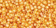TT-01-0950 Inside-Color Jonquil/Burnt Orange Lined Treasure 11/0 Toho