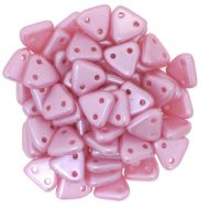 TTR-25008 Pastel Pearl Pink CzechMates Triangle 2-Hole * BUY 1 - GET 1 FREE *