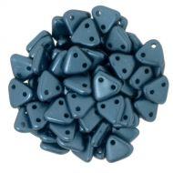 TTR-25033 Pastel Pearl Petrol CzechMates Triangle 2-Hole * BUY 1 - GET 1 FREE *