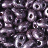 TWN-28998 Jet Dark Purple Pearl Twin Beads Preciosa
