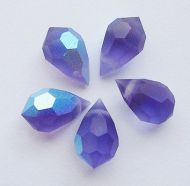 PD681 Tanzanite AB Matte Drop 10x6 Preciosa