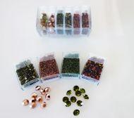Mos-TO Topaz/Olive Shiny Mosaic Bead & Chaton Pack - Akke Jonkhof