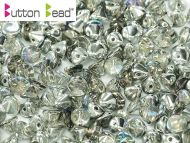 BB-00030/98530 Crystal Rainbow Silver Button Beads * BUY 1 - GET 1 FREE *