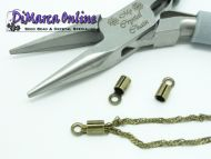 Crimp Ends with Loop 2 mm Antique Bronze Plated - 10 x