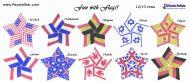 Tutorial Flags All Stars 10 x 3D Peyote Star + Basic Tutorial Little 3D Peyote Star (download link per e-mail)
