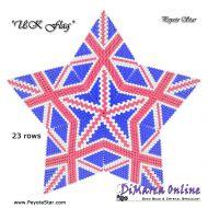 Tutorial UK Flag 3D Peyote Star + Basic Tutorial Little 3D Peyote Star (download link per e-mail)