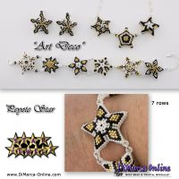 Tutorial Star Jewels Art Deco x 10 - 3D Peyote Star + Basic Tutorial (download link per e-mail)