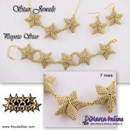 Tutorial Star Jewels x 10 - 3D Peyote Star + Basic Tutorial Little 3D Peyote Star (download link per e-mail)