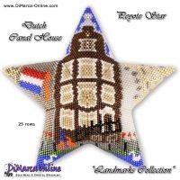 Tutorial Landmark - Dutch Canal House 3D Peyote Star + Basic Tutorial (download link per e-mail)