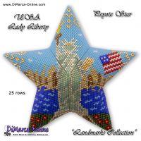Tutorial Landmark - USA Lady Liberty 3D Peyote Star + Basic Tutorial (download link per e-mail)