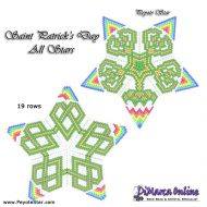 Tutorial St. Patricks Day All Stars 3D Peyote Star + Basic Tutorial Little 3D Peyote Star (download link per e-mail)