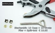 Sew-On Cups and Rivet Starters Kit 8 mm
